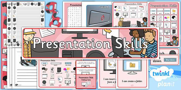 PlanIt Computing Y2 Presentation Skills Unit Additional Resources