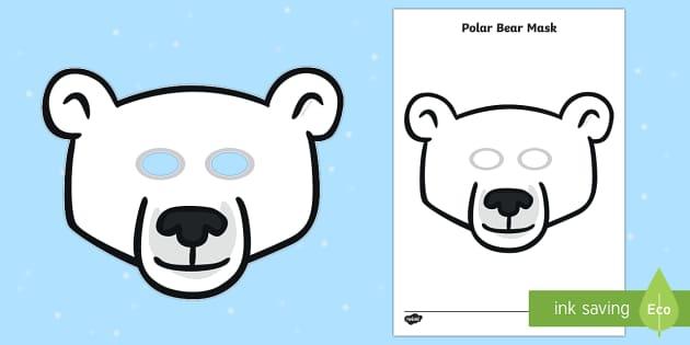 Polar Bear Role Play Mask