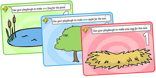 Counting Playdough Mats - Playdough mat, playdough resources, numeracy, numbers, playdough