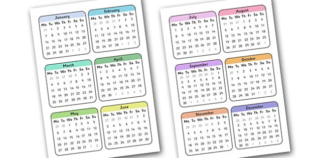 Editable 2013 Calendar Small - calendar, editable calendar, months of the year, display calendar, small calendar, little calendar, display, display poster, poster, the year, 2013, 2013 calendar