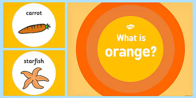 What is Orange Colour PowerPoint - powerpoints, information