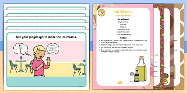 Ice Cream Parlour Playdough Recipe and Mat Pack