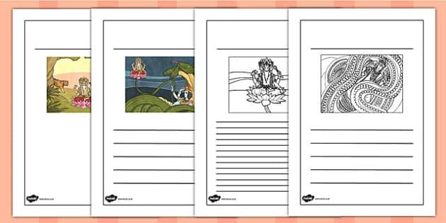 Hindu Creation Writing Frames - hinduism, religion, writing aid