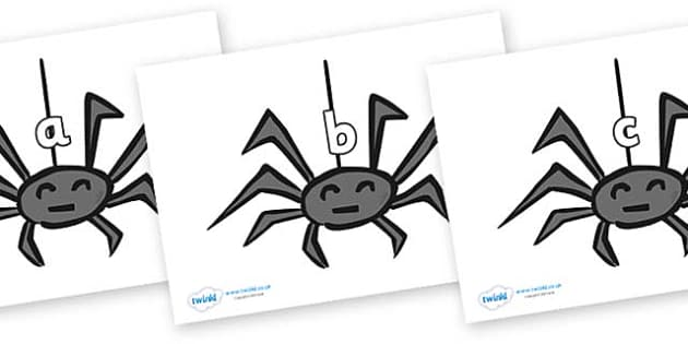 Phase 2 Phonemes on Spiders - Phonemes, phoneme, Phase 2, Phase two, Foundation, Literacy, Letters and Sounds, DfES, display