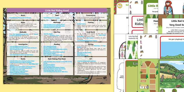 EYFS Little Red Riding Hood Enhancement Ideas and Resources Pack - Early Years, continuous provision, early years planning, adult led, traditional tales, wolf