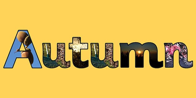 Autumn Photo Display Lettering - autumn, lettering, letters