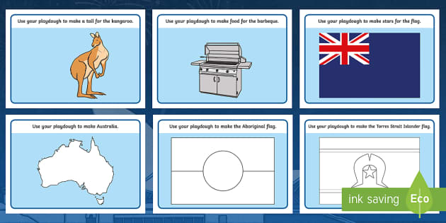 Australia Day Playdough Mat - australia, playdough mat, day