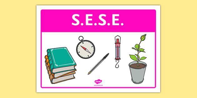 SESE Classroom Area Sign - gaeilge, roi, irish, area, sign, classroom, display, sese