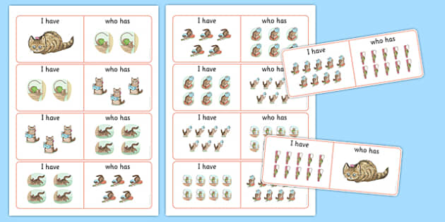 Beatrix Potter - The Story of Miss Moppet 'I Have, Who Has?' Counting Activity - beatrix potter, miss moppet
