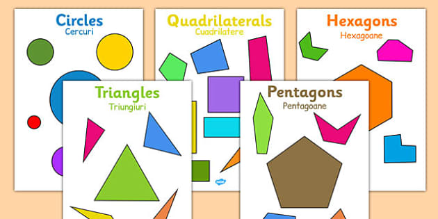 2D Regular and Irregular Shape Posters Romanian Translation - romanian, 2d, regular, irregular, shape