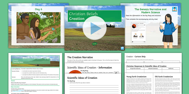 Creation Lesson Pack - God; Creation; Christianity; Genesis; Big Bang; Evolution