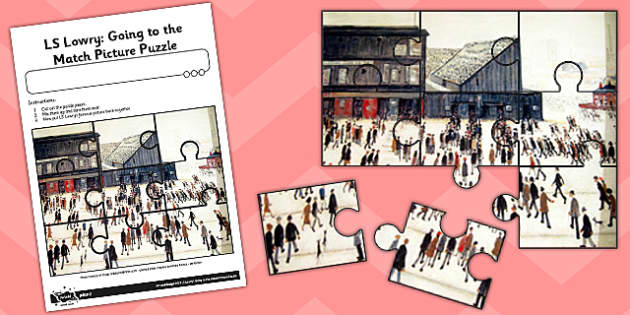 LS Lowry Going to the Match Picture Puzzle - artists, games
