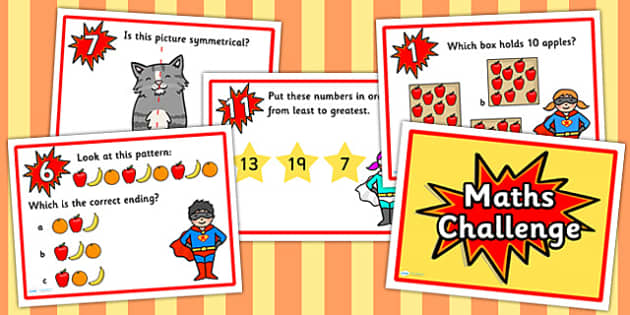 Year 1 Maths Challenge PowerPoint - numeracy, numeracy challenge