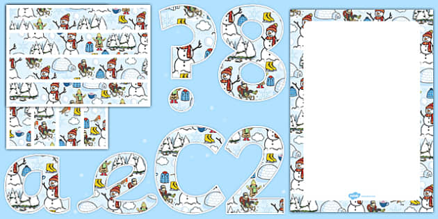 Winter Themed Complete Editable Display Pack - winter, editable, display, pack