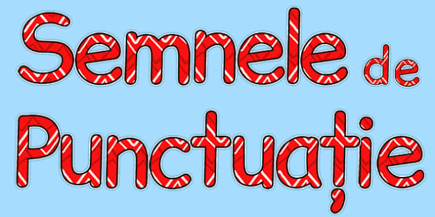 Litere Decupabile, Semnele de Punctuatie - semne de punctuatie