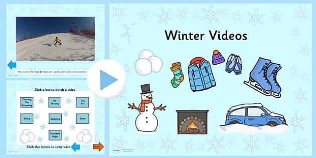 Winter Video PowerPoint - winter, video, powerpoint, winter video, winter powerpoint, video powerpoint, seasons, seasons powerpoint, seasons video