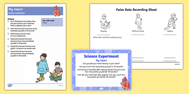 EYFS My Heart Science Experiment and Prompt Card Pack