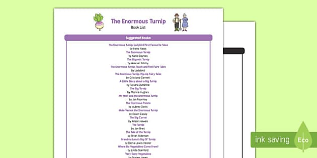 The Enormous Turnip Book List