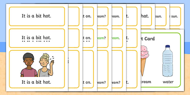 Summer Simple Sentence Cards