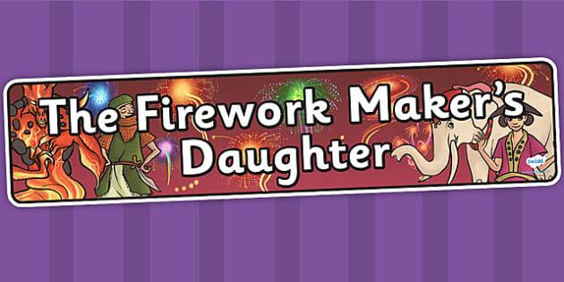 The Firework Makers Daughter Display Banner - header, myths