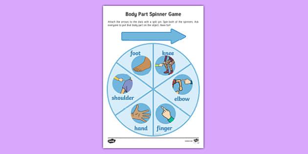 Body Part Spinner Game