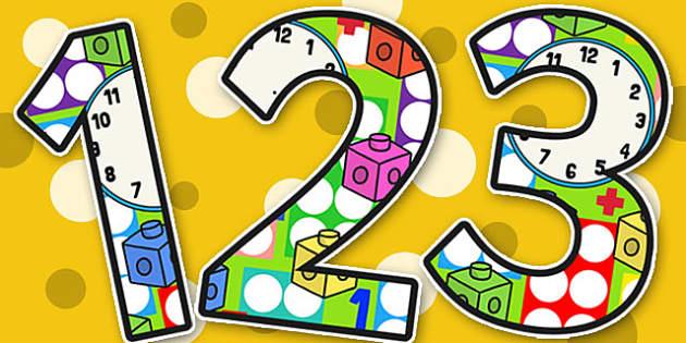 Maths Area Themed Display Numbers - maths, display, numbers, math