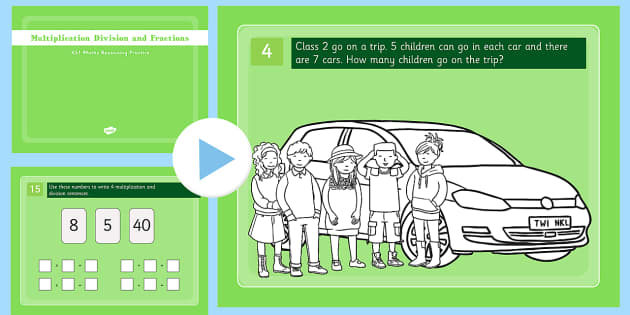 Reasoning Practice: Multiplication, Division and Fractions Pack - reasoning practice, multiplication, division, fractions
