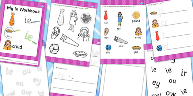 Phase 5 ie Grapheme Workbook - phase five, graphemes, literacy