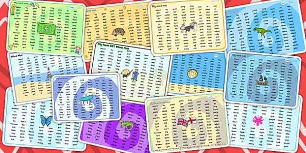 KS1 Word Mat Variety Pack - ks1, mat, pack, words, resources