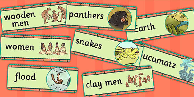 Mayan Civilization Creation Story Word Cards - ancient maya, maya