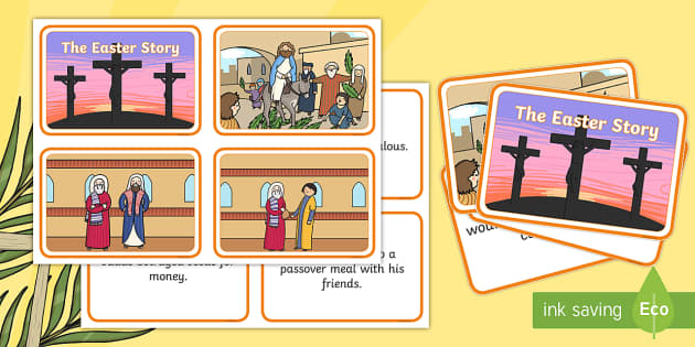 Easter Story Matching Sequencing Cards -  Easter Topic, Easter, Happy Easter, easter story, resurrection, Christ, Jesus, sequencing cards, story sequencing, A4, cards, Foundation, KS1, Easter, Easter resource, Easter teaching resource