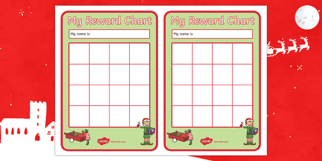 Elf Themed Reward Chart - Christmas, Nativity, Jesus, xmas, Xmas, Father Christmas, Santa, St Nic, Saint Nicholas, traditions