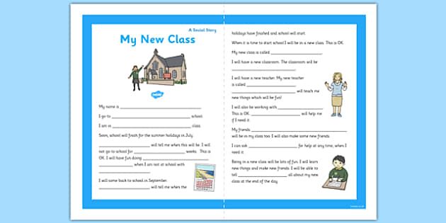 My New Class Social Story Primary - new class, social, story