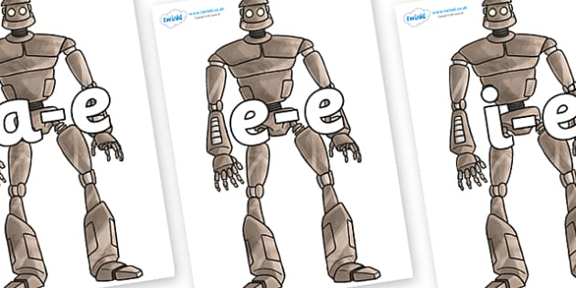 Modifying E Letters on The Iron Man - Modifying E, letters, modify, Phase 5, Phase five, alternative spellings for phonemes, DfES letters and Sounds