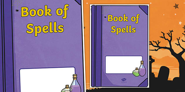 Halloween: Book of Spells Editable Book Cover
