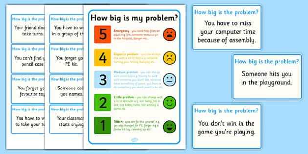 How Big Is My Problem Sorting Activity - activities, sort, game