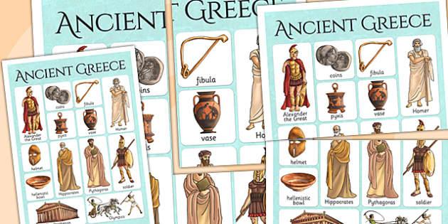 Ancient Greece Vocabulary Mat - ancient greece, visual aid, greek