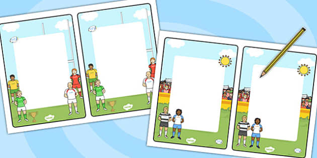 Rugby Themed Editable Note - rugby, editable note, editable, note