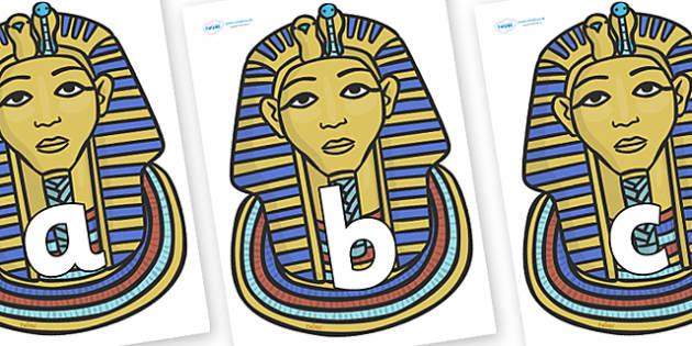 Phoneme Set on Mummy Masks - Phoneme set, phonemes, phoneme, Letters and Sounds, DfES, display, Phase 1, Phase 2, Phase 3, Phase 5, Foundation, Literacy