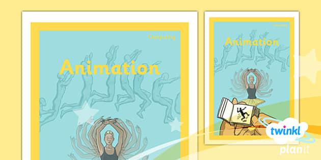PlanIt - Computing Year 4 - Animation Unit Book Cover - planit, book cover, computing, year 4, animation