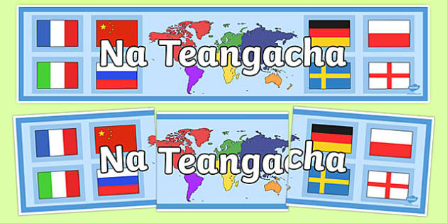 Languages Display Banner Irish Gaeilge - Irish, Gaeilge, languages, display, banner, school, social