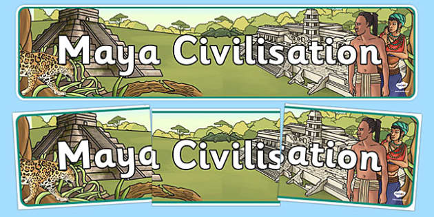 Maya Civilisation Display Banner - maya, display banner, display