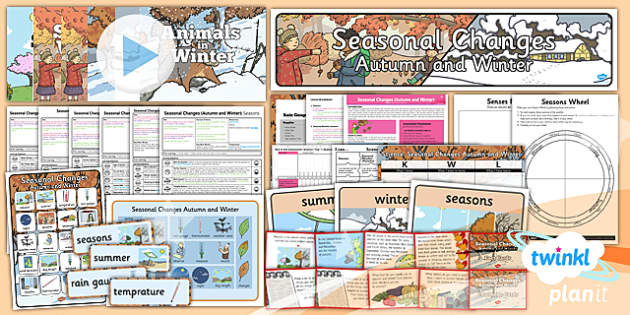 PlanIt - Science Year 1 - Seasonal Changes (Autumn and Winter) Unit Pack - planit