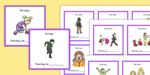 What Did They Do? Find the Verb Cards - what, do, find, verb, cards