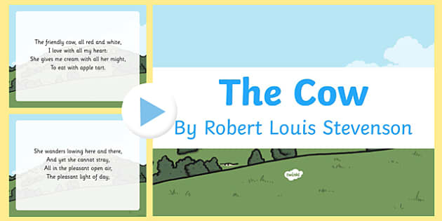 The Cow by Robert Louis Stevenson PowerPoint