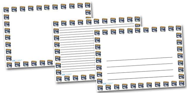Spam Landscape Page Borders- Landscape Page Borders - Page border, border, writing template, writing aid, writing frame, a4 border, template, templates, landscape