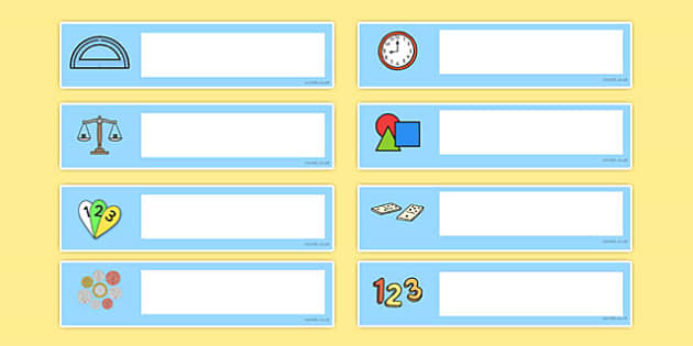 Numeracy Themed Editable Gratnells Tray Labels - tray labels
