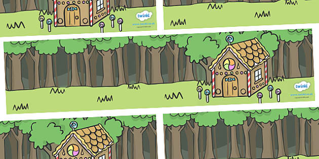 Hansel and Gretel Small World Background - Hansel and Gretel, Brothers Grimm, witch, Hansel, Gretel, gingerbread house, fairytale, traditional tale, woodcutter, forest, story, story sequencing, story resources, Small World, backdrop, background, scen