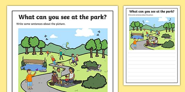 Park Scene Writing Stimulus Picture
