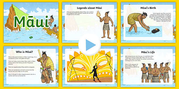 Māui Legend Information PowerPoint - Maui, Maori, legends, myths